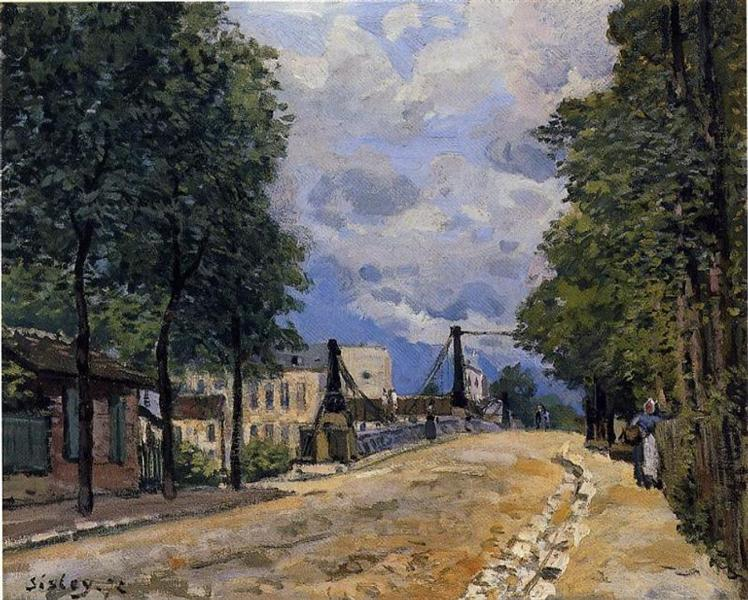 The Road from Gennevilliers, 1872 - Alfred Sisley