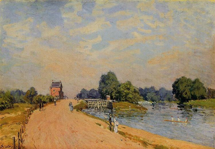 The Road from Hampton Court, 1874 - Alfred Sisley