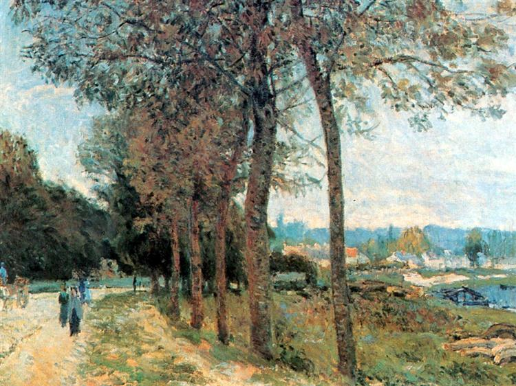 The Seine at Marly, 1876 - Alfred Sisley