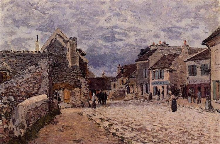 Village Street Grey Weather, 1874 - Alfred Sisley