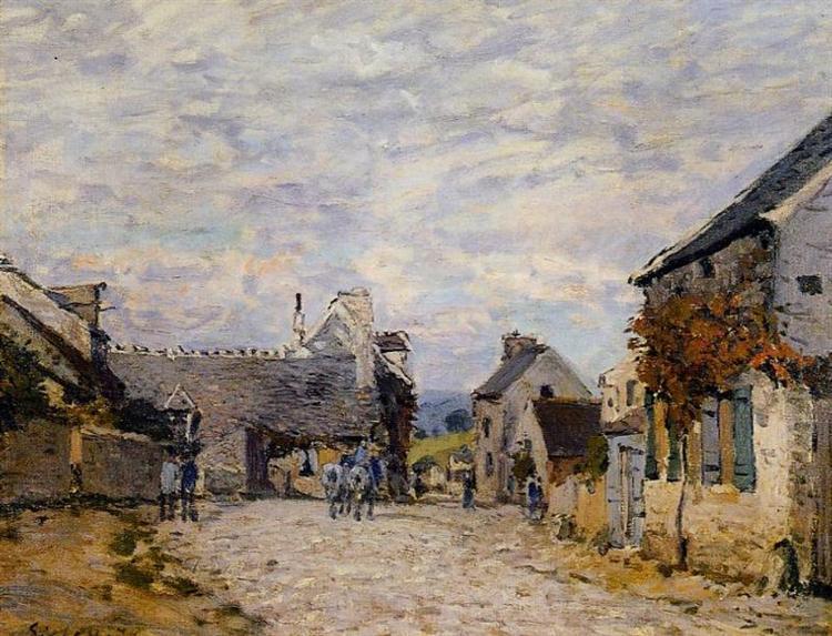 Village Street Louveciennes, 1874 - Alfred Sisley