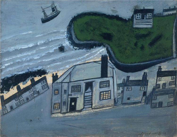 The Hold House Port Mear Square Island Port Mear Beach, 1932 - Alfred Wallis