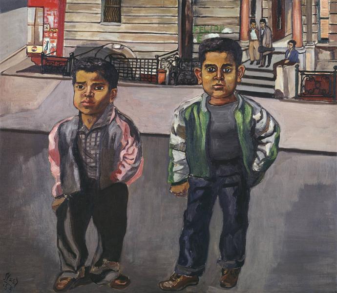 Dominican Boys on 108th Street, 1955 - Элис Нил