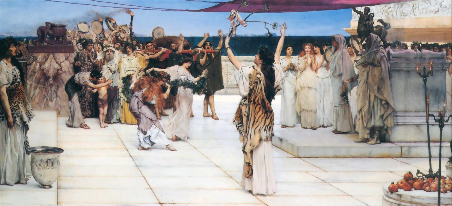 A Dedication to Bacchus, Sir Lawrence Alma-Tadema, 1889