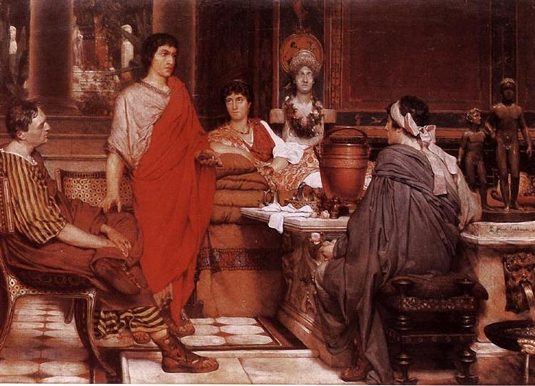 Catullus at Lesbia's, 1865 - Sir Lawrence Alma-Tadema