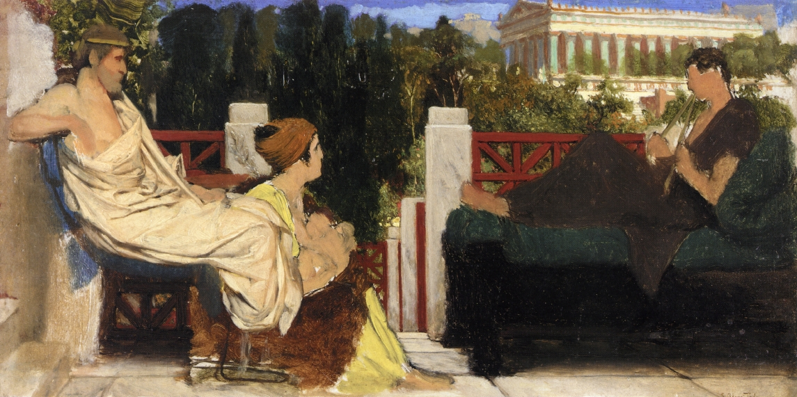 Figures on the Terrace by the Acropolis, 1870-1874