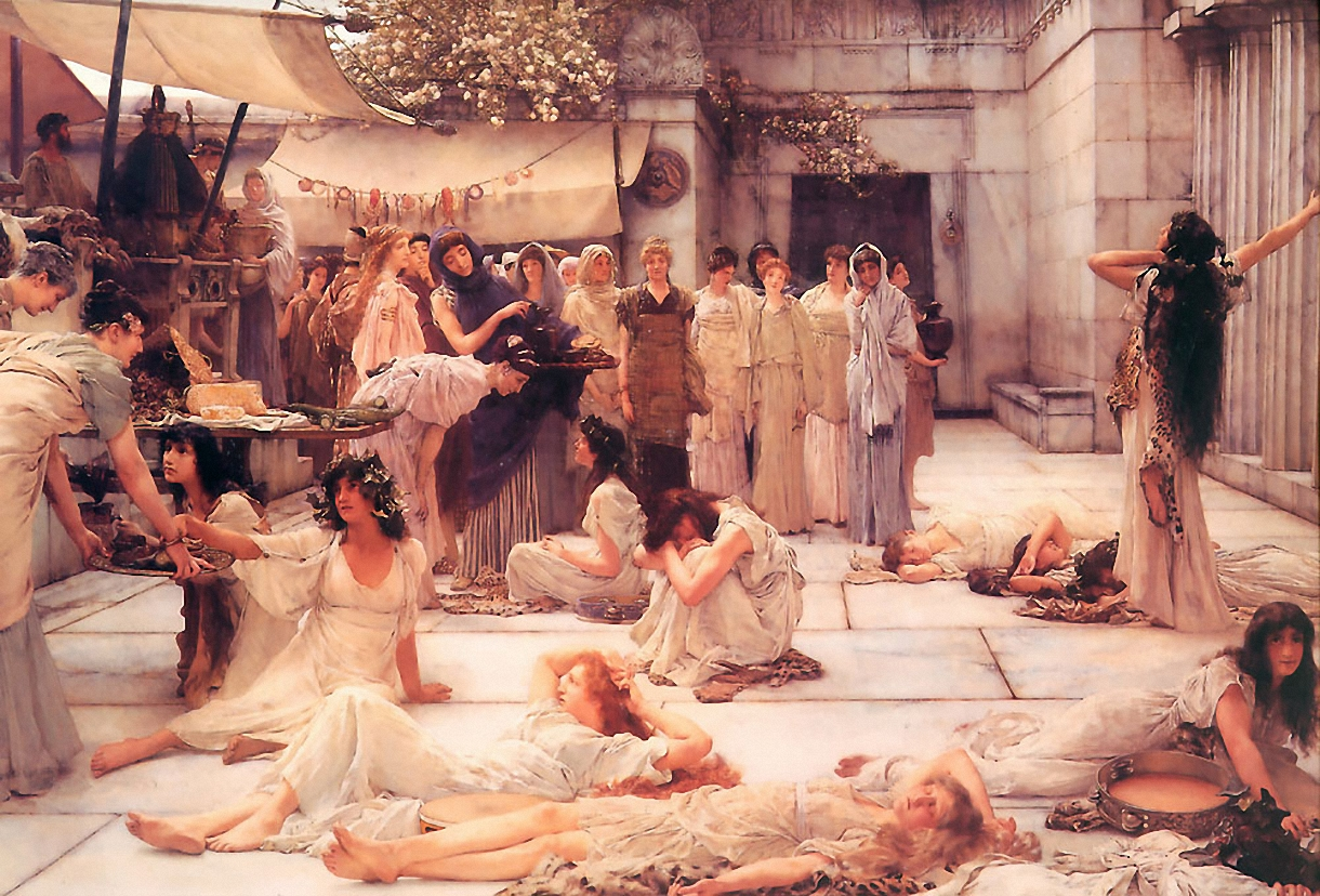 Lawrence Alma-Tadema - Page 2 The-women-of-amphissa-1887