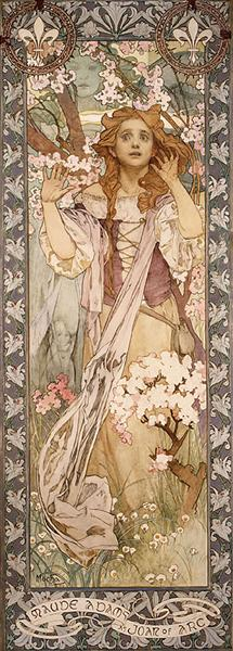 Maude Adams as Joan of Arc - Alphonse Mucha