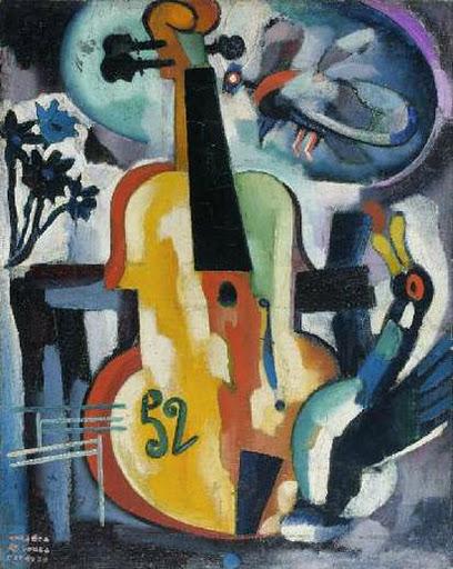 Composition with violin - Amadeo de Souza-Cardoso