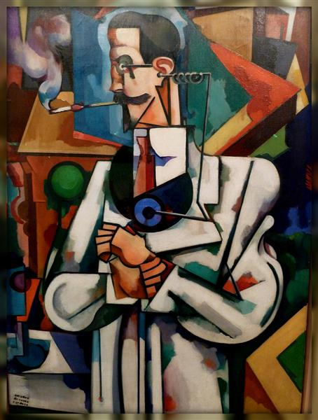 Untitled (Portrait of Paul Alexander), 1917 - Амадеу ди Соуза-Кардозу