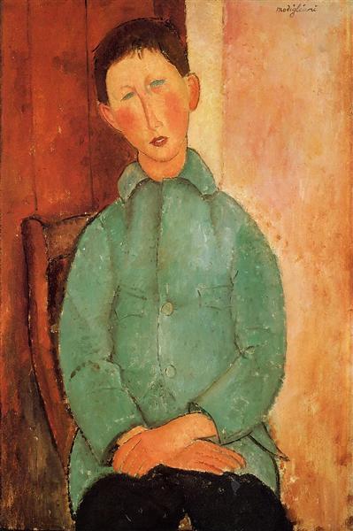 Boy in a Blue Shirt, 1918 - Amedeo Modigliani
