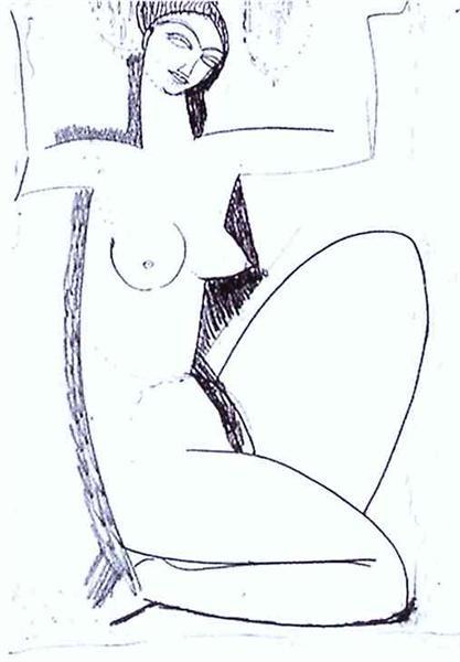 Caryatid, c.1912 - Amedeo Modigliani