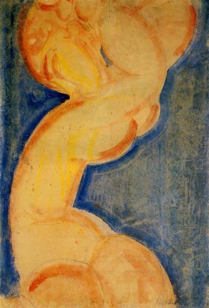 Caryatid, c.1913 - Amedeo Modigliani