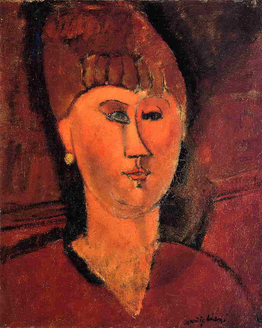 painting of red headed woman