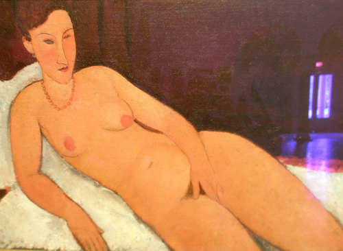 Nude with Coral Necklace, 1917 - Amedeo Modigliani