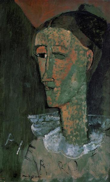 Pierrot (Self Portrait as Pierrot), 1915 - Amedeo Modigliani