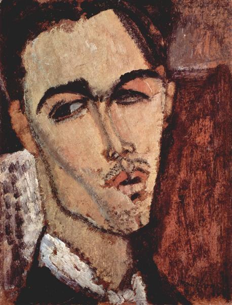 Portrait of Celso Lagar, 1915 - Amedeo Modigliani