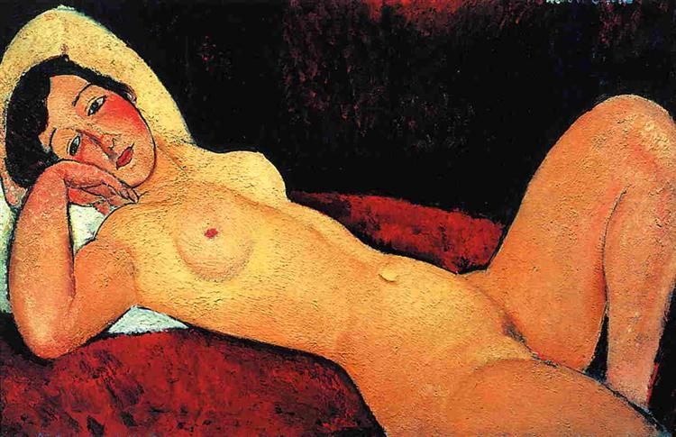 Reclining nude, 1917 - Amedeo Modigliani