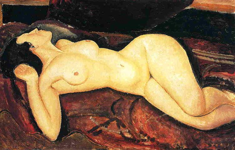 Recumbent nude, 1917 - Amedeo Modigliani