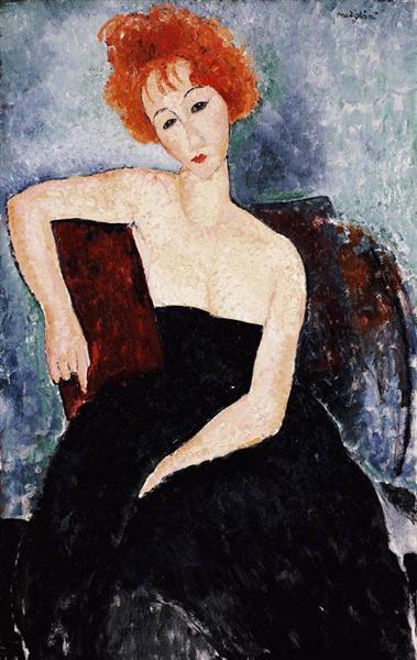 Red-headed Girl in Evening Dress, 1918 - Amedeo Modigliani