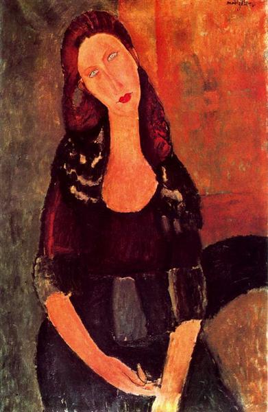 Seated Jeanne Hebuterne, 1918 - Amedeo Modigliani