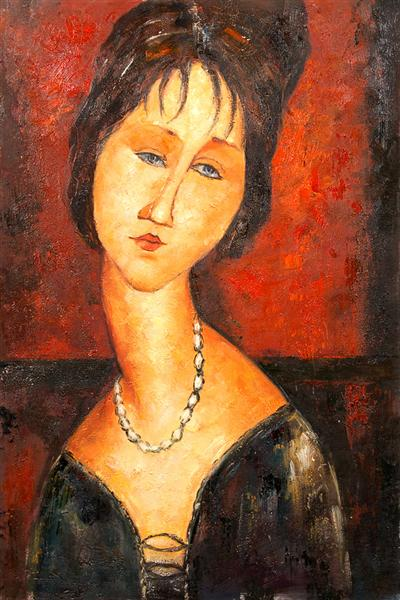 Portrait of Jeanne Herbuterne - Amedeo Modigliani
