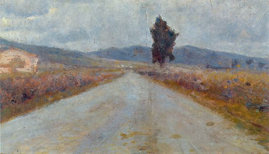 The Tuscan Road, 1899 - Amedeo Modigliani
