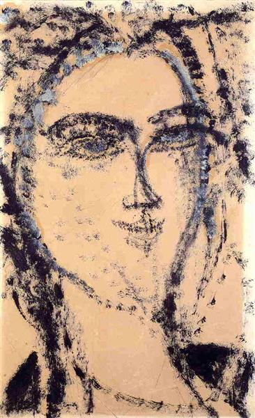 Woman's Head, 1915 - Amedeo Modigliani