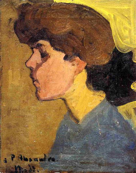 Woman's Head in Profile, 1907 - Amedeo Modigliani