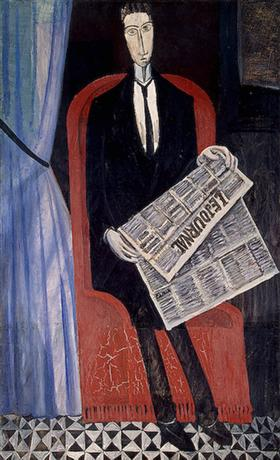 Portrait of a Man With a Newspaper - Andre Derain