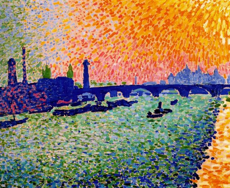 The Bridge, view on the river, 1905 - Andre Derain