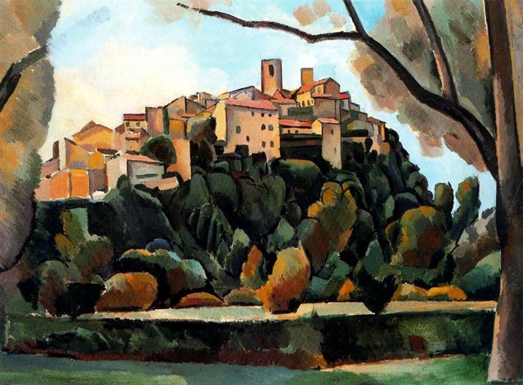 Vista de Saint Paul de Vence, 1910 - Andre Derain