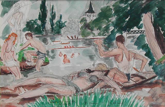 Dimanche sur la Marne - Andre Dunoyer de Segonzac