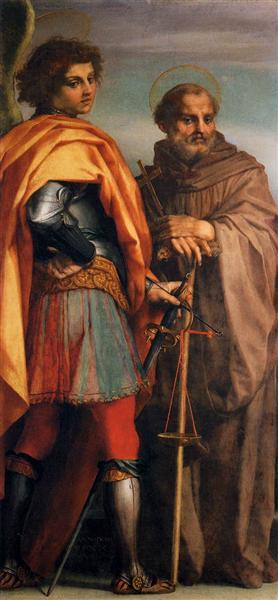 Sts Michael and John Gualbert, 1528 - Andrea del Sarto