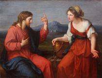 Christ and the Samaritan woman at the well - Angelica Kauffman