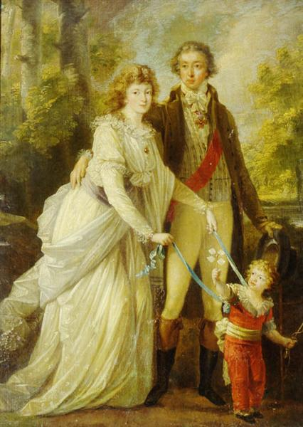 Count Nikolai Tolstoy with his wife Anna Ivanovna and their son Alexander, c.1795 - Ангеліка Кауфман