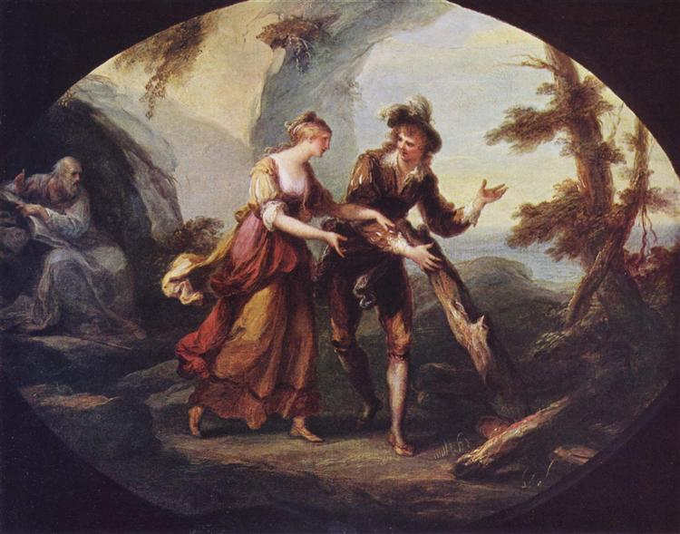 Scene with Miranda and Ferdinand, 1782 - Angelica Kauffman