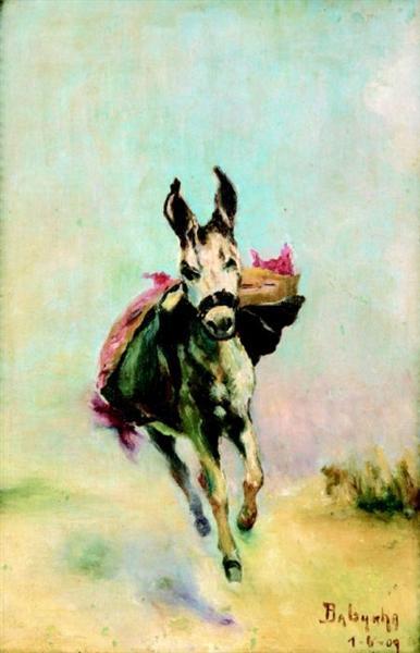 Burrinho correndo, 1909 - Anita Malfatti
