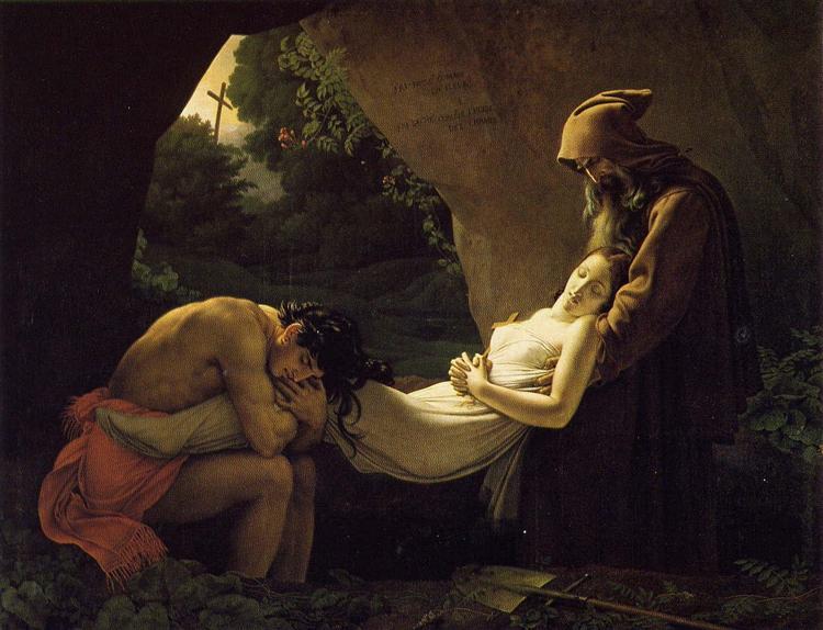 The Burial of Atala, 1808 - Анн-Луи Жироде-Триозон