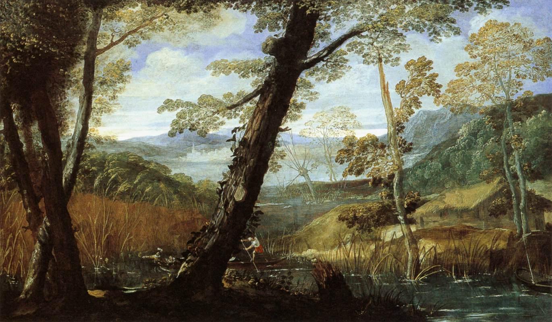 River Landscape, 1589 - 1590 - Annibale Carracci - WikiArt.org