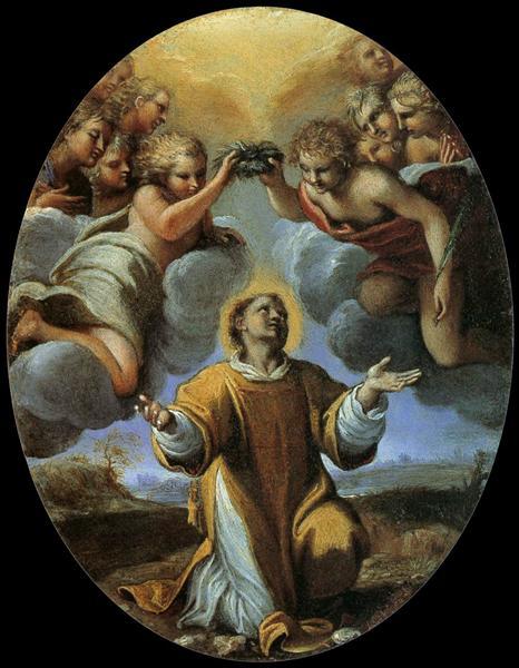 The Coronation of St Stephen, c.1597 - Annibale Carracci