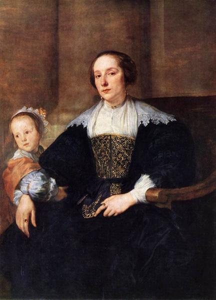 The Wife and Daughter of Colyn de Nole - Anthony van Dyck