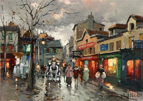 Rue Norvins, place du Tertre Montmartre - Antoine Blanchard