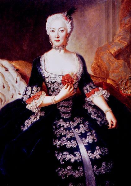Isabel Cristina de Brunswick-Wolfenbüttel, c.1739 - Antoine Pesne