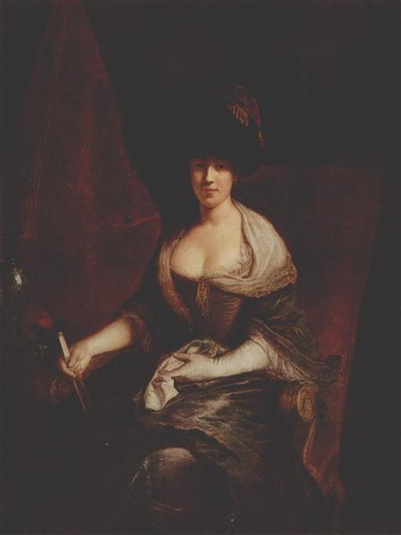 Portrait of Mary Susanne Dinglinger, born Gutermann, c.1721 - Antoine Pesne