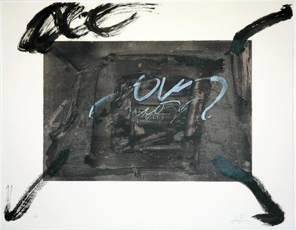 Quatre gestes noirs, 1983 - Antoni Tàpies