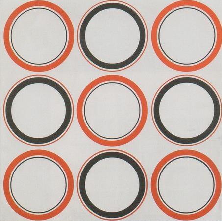 Cercle rouge et noir, 1980 - Antonio Asis