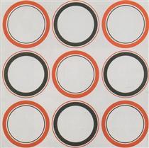 Cercle rouge et noir - Antonio Asis