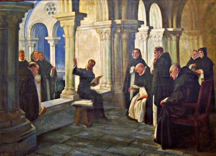 Camões lendo Os Lusíadas aos Frades de São Domingos, 1927 - Antonio Carneiro