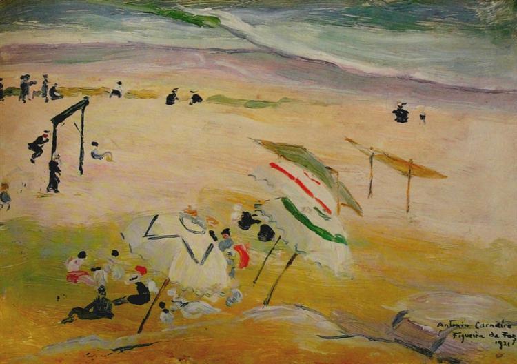 Praia da Figueira da Foz, 1921 - António Carneiro
